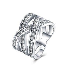 White Gold Plated Infinite Matrix Ring