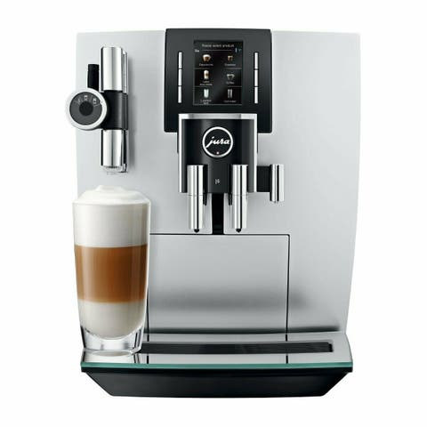 Jura 15150 J6 Coffee Machine (Brilliant Silver) w/ Aroma Grinder and Pulse Extraction Process (Certified Refurbished)