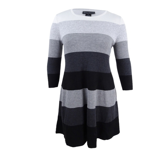 fc13cd2b097 Shop Jessica Howard Women s Striped Sweater Dress (XL