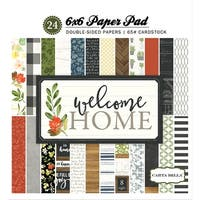 """Carta Bella Double-Sided Paper Pad 6""""X6"""" 24/Pkg-Welcome Home, 12 Designs/2 Each"""
