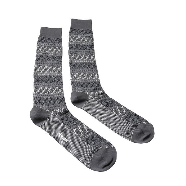 Missoni GM00CMU5243 0006 Gray/White Knee Length Socks - Grey