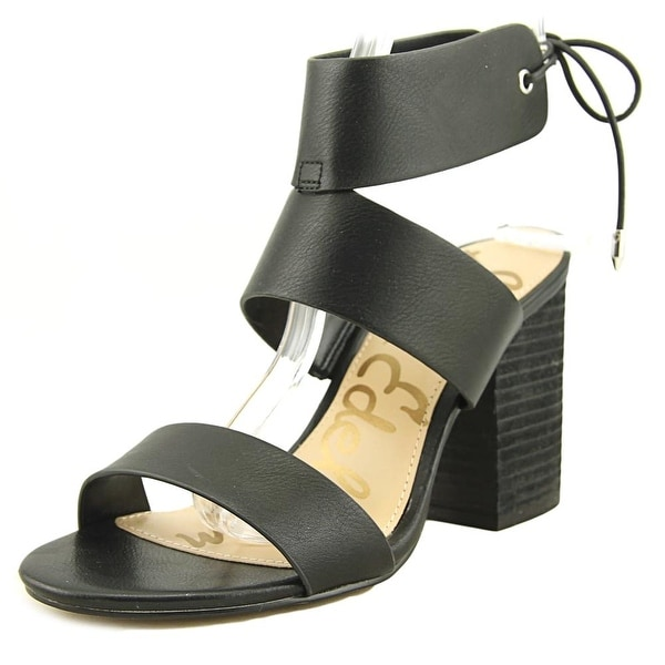 5a4183fb40c4 Shop Sam Edelman Valerie Women Open Toe Leather Black Sandals - Free ...