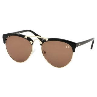 054b4acbc201 Shop ále by Alessandra Ambrosio Sunglasses for Women Black Gold Metal Browline  Sunglasses 4010-1 - Free Shipping On Orders Over  45 - Overstock - 18594559