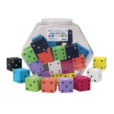 Koplow Games Assorted Foam Dice, Set of 36