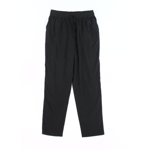 ABound Solid Deep Black Women's Size Small S Pull-On Pleated Pants