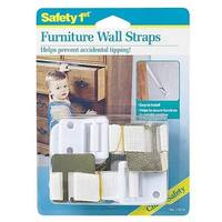 Safety 1st Dorel Juvenile 11014 2 Count White Furniture Wall Straps