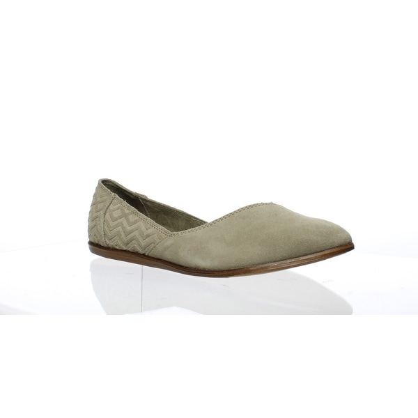 23ac8ff7cf2a TOMS Womens 10009832 Taupe Suede Diamond Jutti Flat Taupe Ballet Flats Size