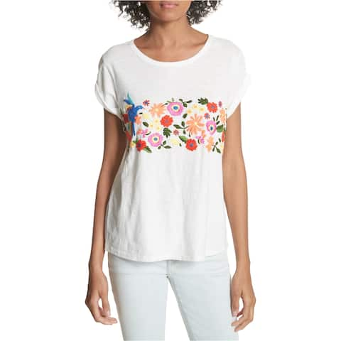 Joie Womens Floral Embellished T-Shirt