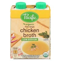 Pacific Natural Foods Free Range Chicken Broth - Low Sodium - Case of 6 - 8 Fl oz.