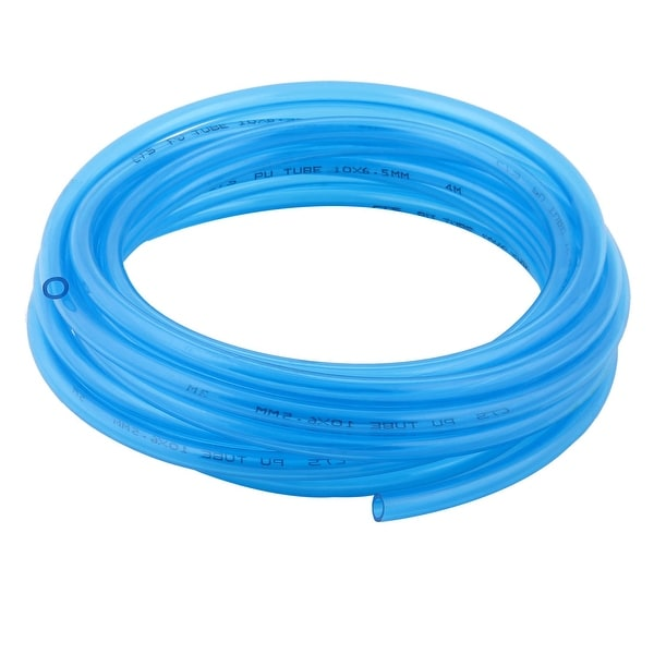 Shop 10mm X 6 5mm Hole Pu Pneumatic Air Tube Airline Tubing Clear Blue 6 9m Long Free Shipping