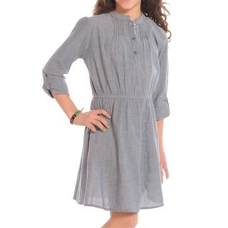 Roll Tab Sleeve Denim Dress