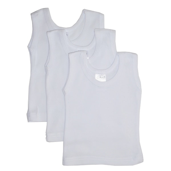 Bambini White Tank Top 3 Pack - Size - Medium - Unisex