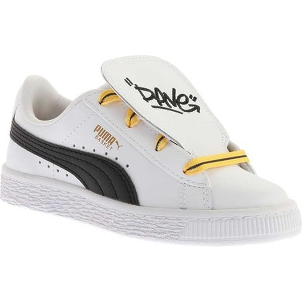 PUMA Children  x27 s Minions Basket Tongue PS Sneaker PUMA White PUMA Black 26687db94