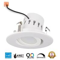 "4"" Inch LED Adjustable Rotating Downlight 10W= (75w Equivalent) 25,000 Life Hours; Dimmable; Available Colors 27K,30K,40K,50K"