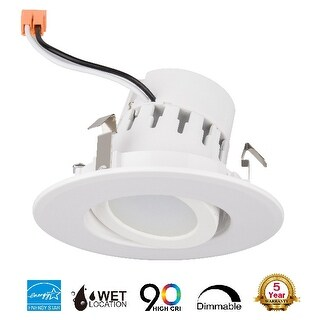 """4"""" Inch LED Adjustable Rotating Downlight 10W= (75w Equivalent) 25,000 Life Hours; Dimmable; Available Colors 27K,30K,40K,50K"""
