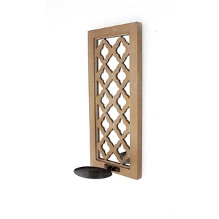 Traditional Mirrored Wooden Candle Holder Sconce