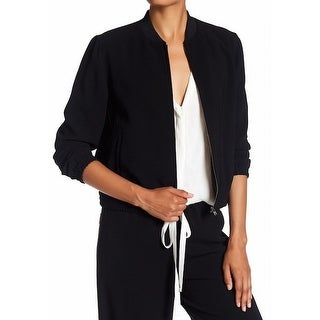 Theory NEW Black Womens Size Large L Baharah RP Modern Crepe Jacket