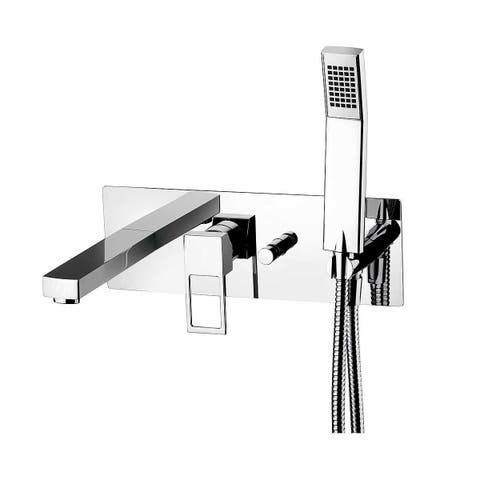 WS Bath Collections Effe EF 001 Effe Tub Faucet and Trim with Single Function Hand Shower -