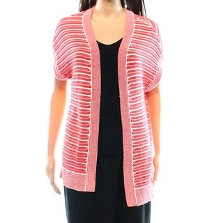 Tommy Hilfiger NEW Red Womens Size Medium M Cardigan Open-Front Sweater