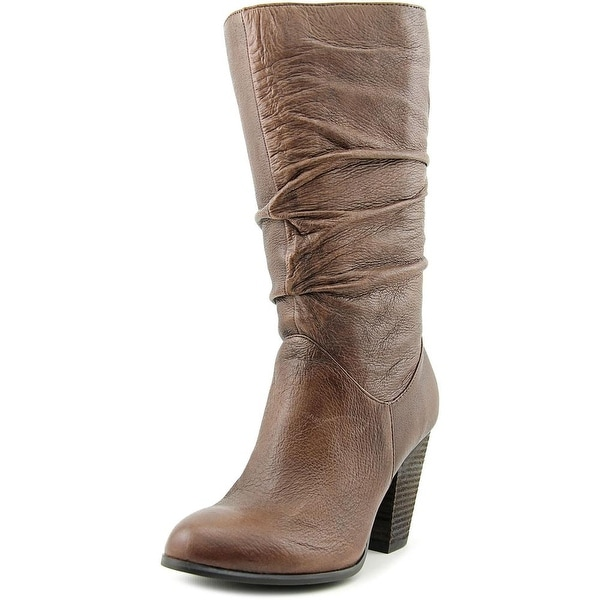 Carlos by Carlos Santana Howell Women Round Toe Leather Brown Mid Calf Boot