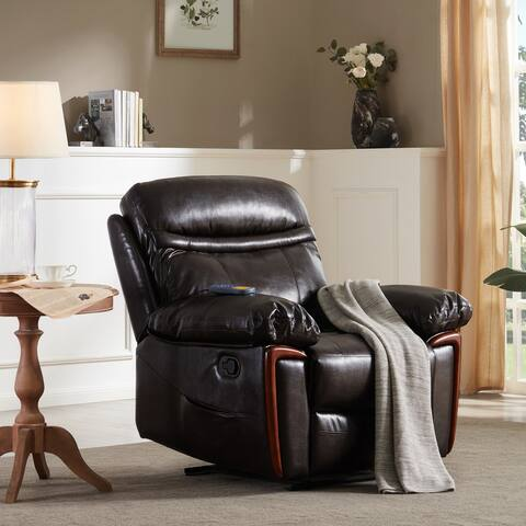 Massage Recliner PU Leather Sofa Chair with Heating
