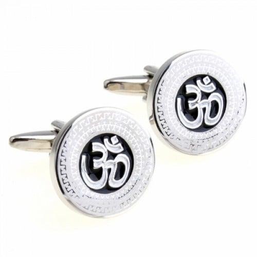 Om Symbol Mystical Sanskrit Sound Cufflinks