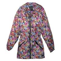 ShedRain Women's Packable Fashion Maxine Floral Print Anorak Rain Jacket