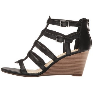 Jessica Simpson Womens Shalon Leather Open Toe Casual Strappy Sandals