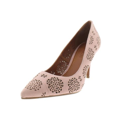 13db4d5cde4 Coach Womens Waverly Dress Heels Suede Perforated