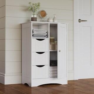 Link to RiverRidge Ashland Collection Painted 1-Door 3-Drawer Floor Cabinet Similar Items in Bathroom Cabinets