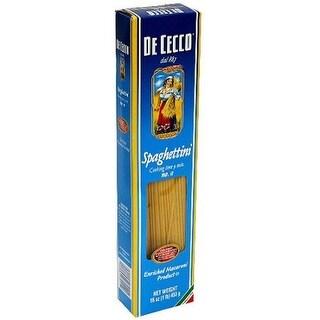 De Cecco Pasta Spaghetti Pasta - Case of 20 - 16 oz.