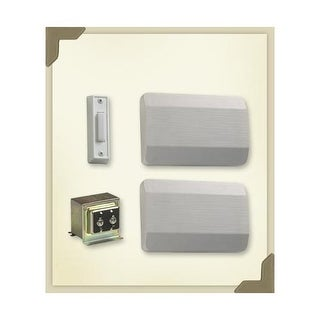 Quorum International 102-1 Two Story / Front Door Chime Kit with White plastic covers