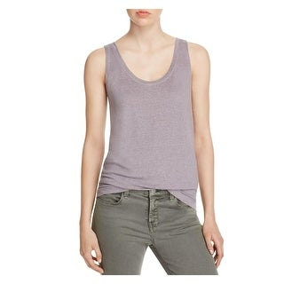 Rebecca Minkoff Womens Gia Tank Top Linen Sleeveless