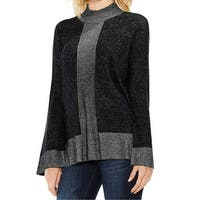 Two by Vince Camuto Gray Womens Size Large L Mock Neck Sweater