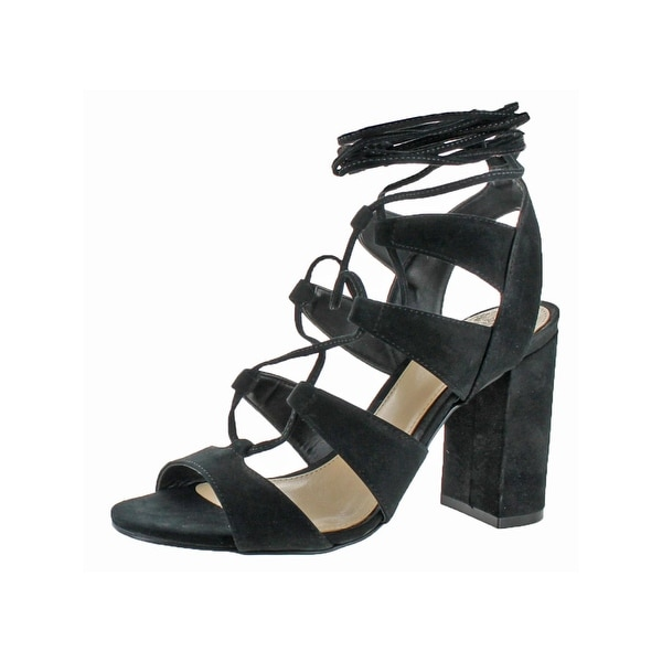 Vince Camuto Womens Winola Strappy Sandals Ghillie Block Heel