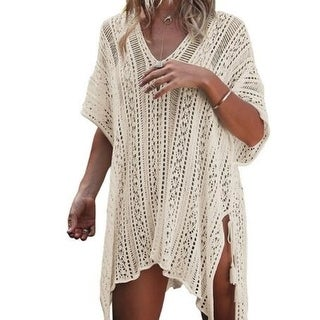Womens Bathing Suit Cover up Beachwear Crochet Dress