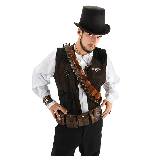 5e9f4dda12f11 Shop Steampunk Coachman Black Adult Costume Top Hat - Free Shipping On  Orders Over  45 - Overstock - 13671683