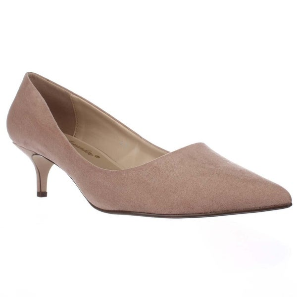 Athena Alexander Teagan Pointed Toe Kitten Dress Pumps, Blush