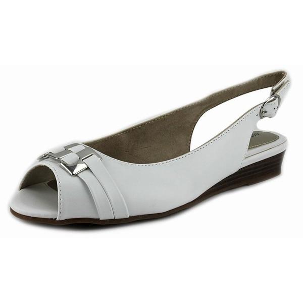 Easy Street Chayla W Peep-Toe Synthetic Slingback Heel