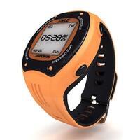 Multi-Function Digital LED Sports Training Watch with GPS Navigation (Orange Color)