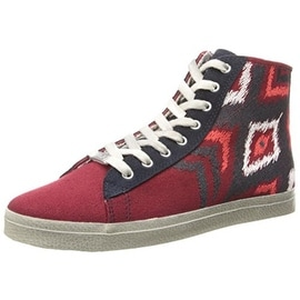 Kim & Zozi Womens Ikat Canvas Side Zip Fashion Sneakers