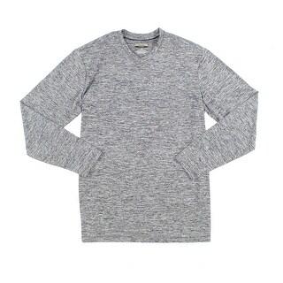 Alfani NEW Gray Mens Size LT Athletic Space-Dye Performance V-Neck Shirt