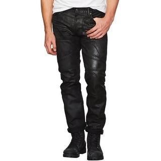 Denim and Supply Ralph Lauren Sheldon Slim Coated Biker Jeans Black 29 x 32