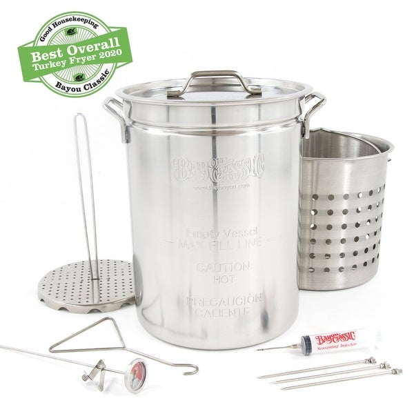 Bayou Classic® 32-qt Stainless Steel Turkey Fryer Kit. Opens flyout.