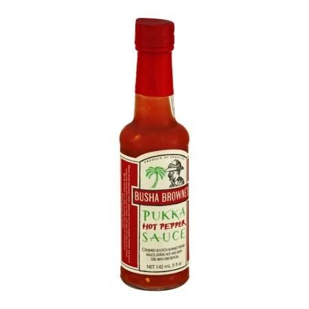 Busha Browne's Hot Pepper Pukka Sauce 5oz (Pack of 12)