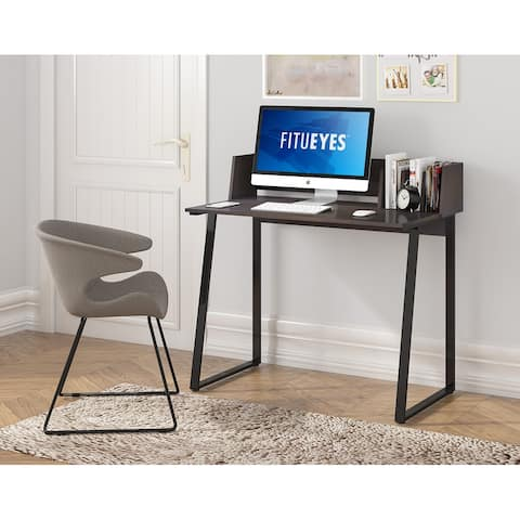 FITUEYES Study Desk with Dividers, Computer Desk for Small Space