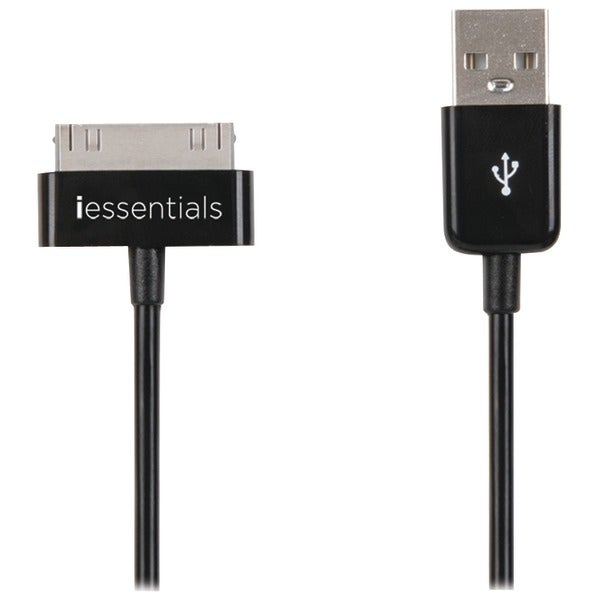 Iessentials Ipl-Dc-Usb Charge & Sync 30-Pin Connector Usb Cable, 3.3Ft