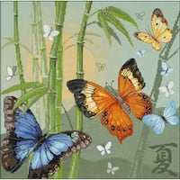"""Butterflies Counted Cross Stitch Kit-13.75""""X13.75"""" 14 Count"""