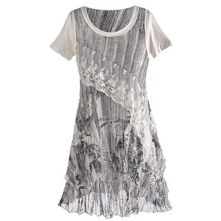 Women's Tunic Top - Adeline Lacey Ruffle Shirt