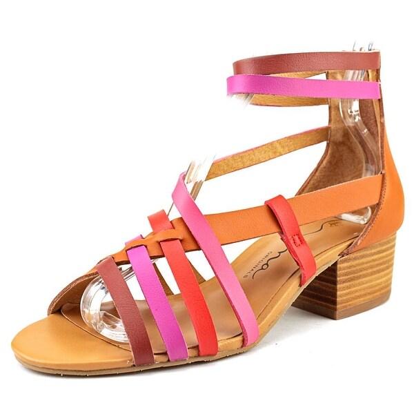 Nina Victor Women Open Toe Leather Tan Gladiator Sandal